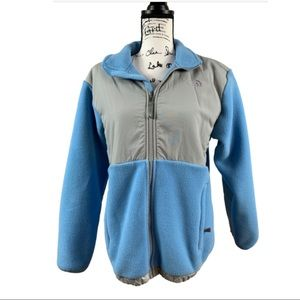 The North Face Fleece Jacket Baby Blue and Gray